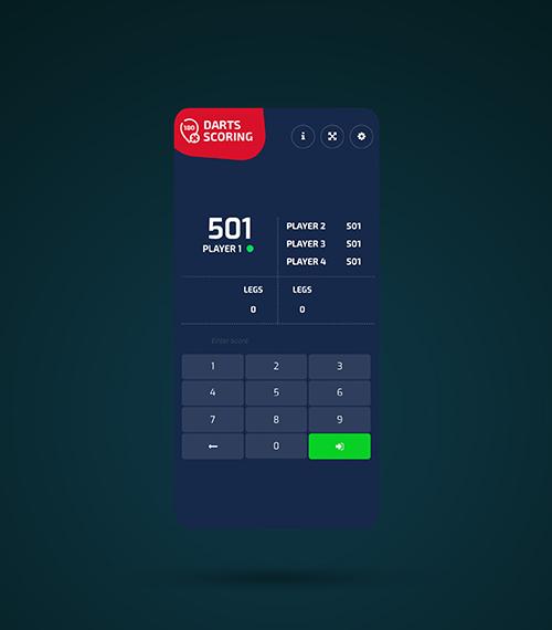 Darts Scoring — Free online darts scoreboard
